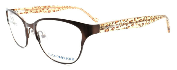 LUCKY BRAND L505 Women's Eyeglasses Frames Cat-eye 52-17-140 Brown + CASE