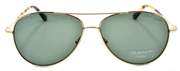 GANT GA7097 32R Men's Sunglasses Aviator POLARIZED 56-12-145 Gold / Green