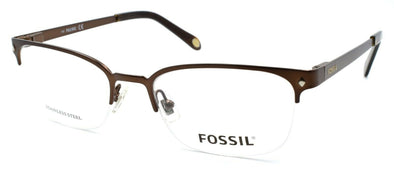 Fossil Will 05BZ Men's Glasses Frames Half-rim 52-19-145 Matte Chocolate Brown