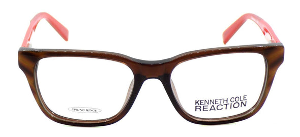 Kenneth Cole REACTION KC0755	048 Women's Eyeglasses 50-16-135 Shiny Dark Brown