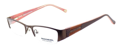 SKECHERS SK2058 SBRN Women's Eyeglasses Frames 49-18-135 Satin Brown + CASE