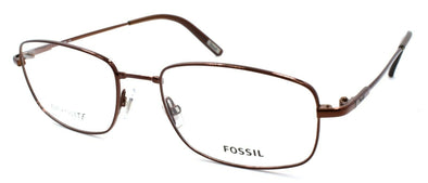 Fossil Trey 0TR2 Men's Eyeglasses Frames Flexible 54-18-145 Dark Brown