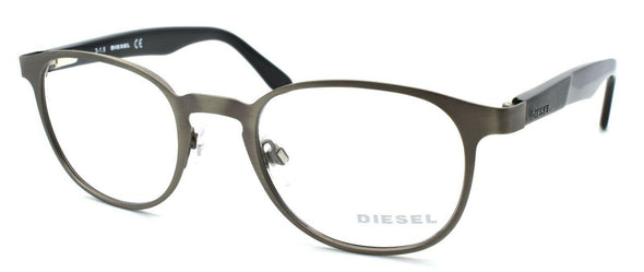 Diesel DL5169 009 Men's Eyeglasses Frames 49-21-145 Matte Gunmetal / Black