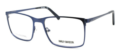 Harley Davidson HD0777 091 Men's Eyeglasses Frames 56-17-145 Matte Blue + Case