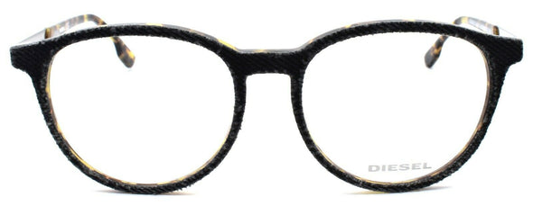Diesel DL5117 005 Unisex Eyeglasses Frames 52-17-145 Black Denim / Blonde Havana