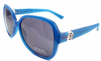 GUESS GF0275 87A Women's Sunglasses 58-16-135 Shiny Turquoise Frame / Smoke Lens