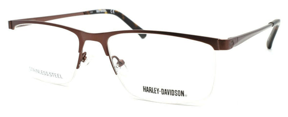 Harley Davidson HD0778 049 Men's Half-rim Eyeglasses 55-17-145 Matte Brown