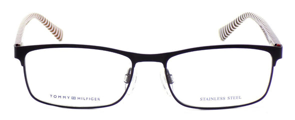 TOMMY HILFIGER TH 1529 807 Men's Eyeglasses Frames 54-16-145 Matte Black Stripes