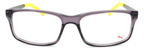 PUMA PU0016O 008 Men's Eyeglasses Frames 54-17-140 Gray / Ruthenium