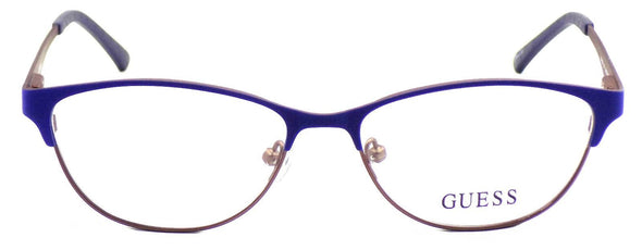 GUESS GU2504 091 Women's Eyeglasses Frames 53-15-135 Matte Blue / Brown  + CASE
