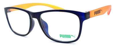 PUMA PU0035OA 004 Unisex Eyeglasses Frames 53-17-145 Blue / Orange