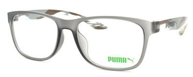 PUMA PU0035OA 003 Unisex Eyeglasses Frames 53-17-145 Matte Grey / Brown + CASE