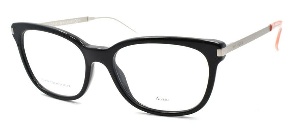 TOMMY HILFIGER TH 1381 FB8 Women's Eyeglasses Frames 53-17-140 Black / Palladium