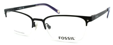 Fossil Will 0RX1 Men's Eyeglasses Frames Half-rim 52-19-145 Matte Black