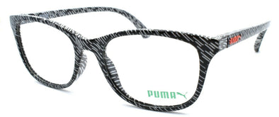 PUMA PU0082 001 Women's Eyeglasses Frames 50-17-145 Black / White