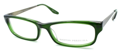Barton Perreira Nickelas Men's Eyeglasses Frames 53-16-145 Hunter Green / Pewter