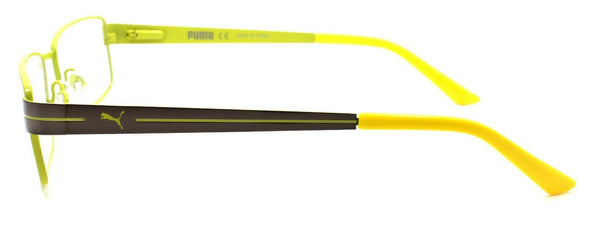 PUMA PE0014O 003 Men's Eyeglasses Frames 54-17-140 Ruthenium / Yellow