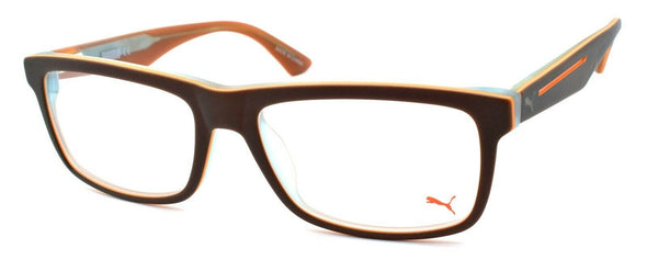PUMA PU0053O 005 Men's Eyeglasses Frames 53-17-145 Green - Brown