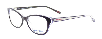 SKECHERS SE2123 003 Women's Eyeglasses Frames Cat-eye 53-15-135 Black + CASE