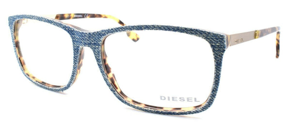 Diesel DL5166 053 Men's Eyeglasses Frames 55-16-145 Blonde Havana / Blue Denim