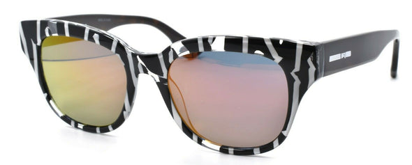 McQ Alexander McQueen MQ0067S 004 Women's Sunglasses Black & Havana / Mirrored