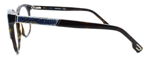 Diesel DL5155 052 Women's Eyeglasses Frames 55-16-140 Dark Havana / Blue Denim