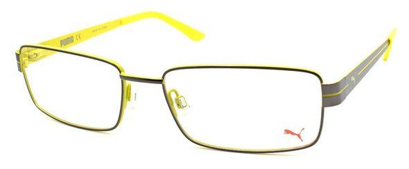 PUMA PE0014O 007 Men's Eyeglasses Frames 56-17-140 Ruthenium / Yellow