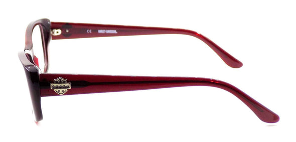 Harley Davidson HD521 RD Women's Eyeglasses Frames 53-16-135 Deep Red + CASE