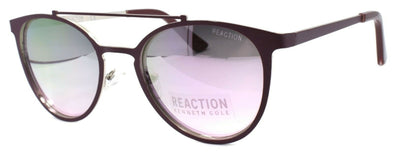 Kenneth Cole Reaction KC1315 67U Women Sunglasses Aviator Matte Red / Mirrored