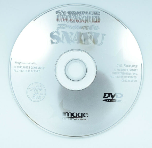 The Complete Uncensored Private Snafu DVD Disc Only
