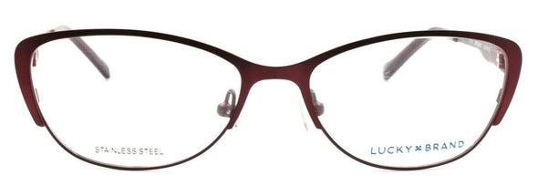 LUCKY BRAND D704 Women's Eyeglasses Frames 50-15-135 Burgundy + CASE