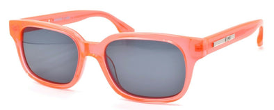 McQ Alexander McQueen MQ0031O 003S Unisex Sunglasses Orange Crystal / Grey
