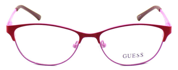 GUESS GU2504 073 Women's Eyeglasses Frames 53-15-135 Matte Red / Pink + CASE