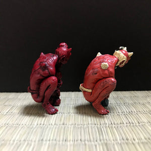 oni netsuke (painted)