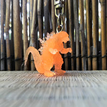Load image into Gallery viewer, Tiny godzilla keychain
