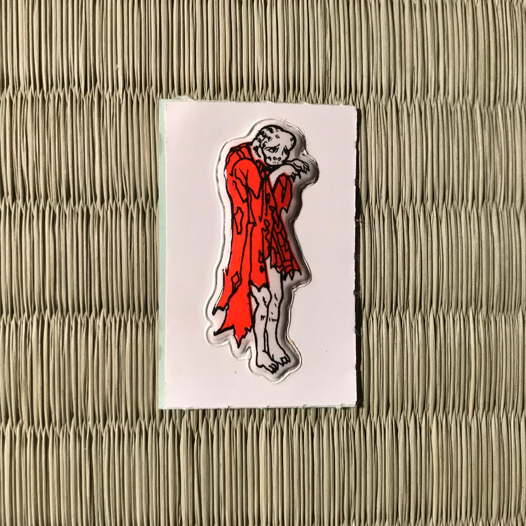 Vintage 80's Yokai sticker - noderabou the wild temple monk