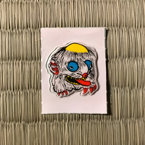 Vintage 80's Yokai sticker - ookubi the giant head