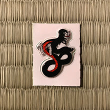 Load image into Gallery viewer, Vintage 80's Yokai sticker - hebi onna the snake woman