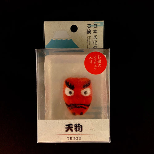 Noh mask bar soap (tengu)