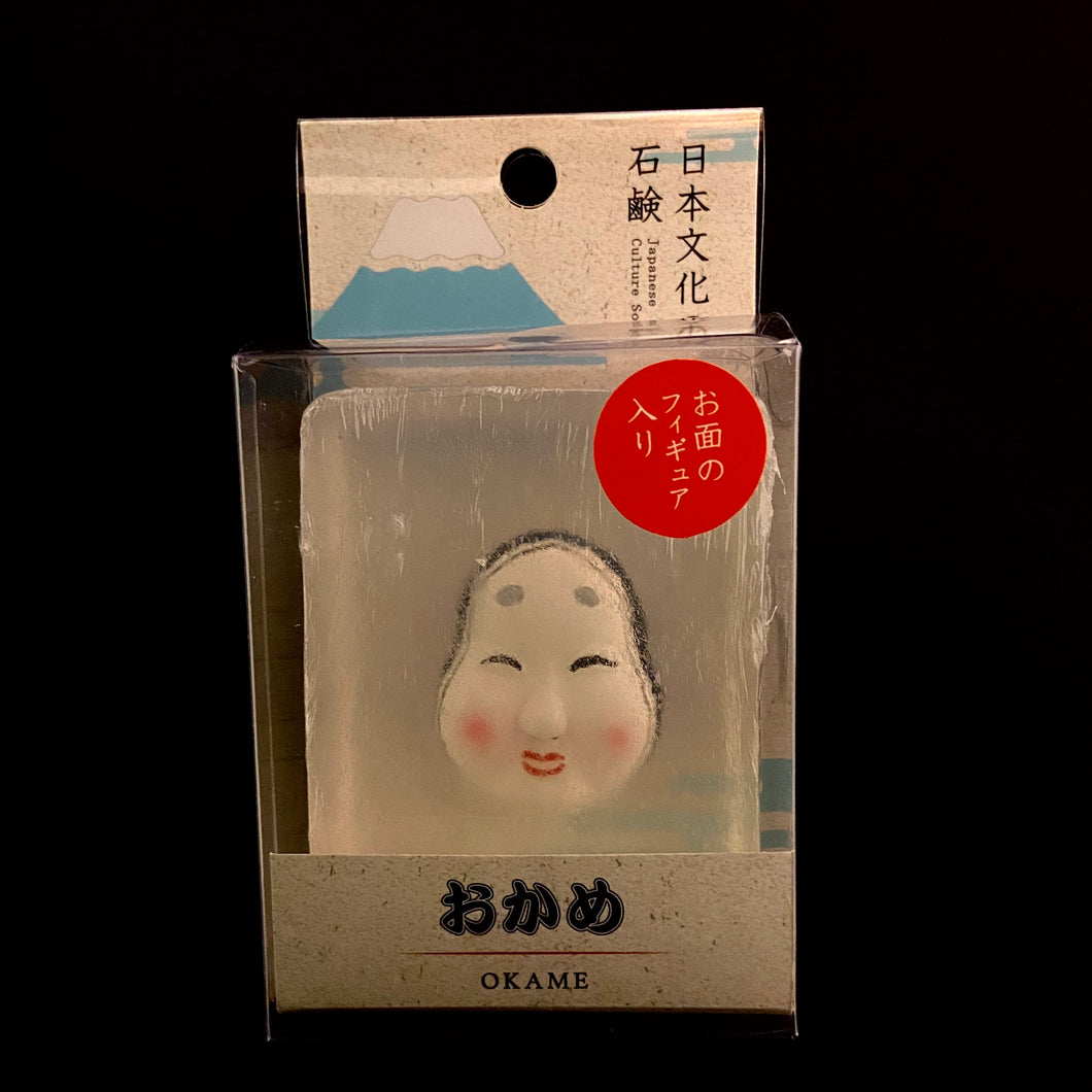 Noh mask bar soap (Okame)