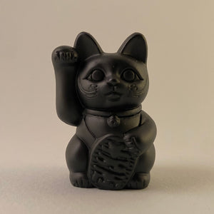 Black manekineko the good luck fortune cat