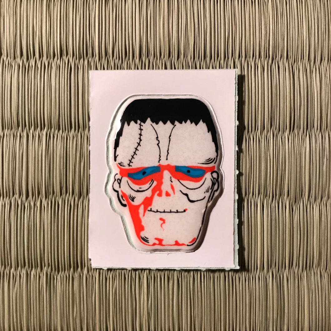 Vintage 80's Yokai sticker - Frankenstein's monster