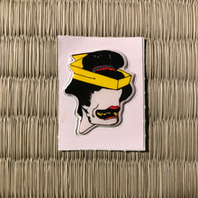 Load image into Gallery viewer, Vintage 80's Yokai sticker - ohagurubettari the nothing but blackened teeth