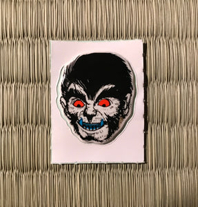 Vintage 80's Yokai sticker -oikamiotoko the werewolf