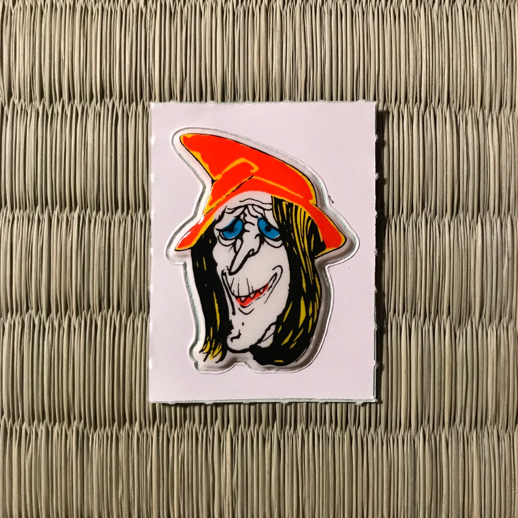 Vintage 80's Yokai sticker - Majo the witch