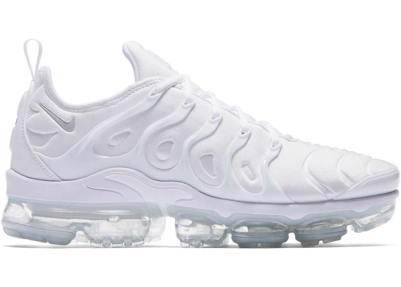 pretty nice 48bb1 25b4f Nike Air VaporMax Plus Triple White Men's Shoes