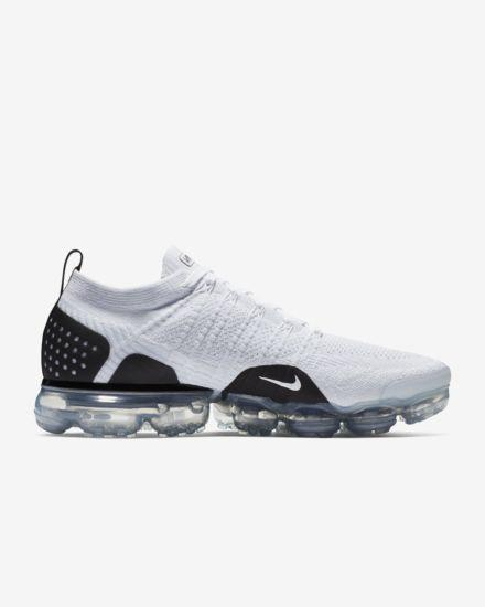 timeless design 85e80 a8cb3 Nike Air VaporMax Flyknit 2 White/Black Men's Shoes