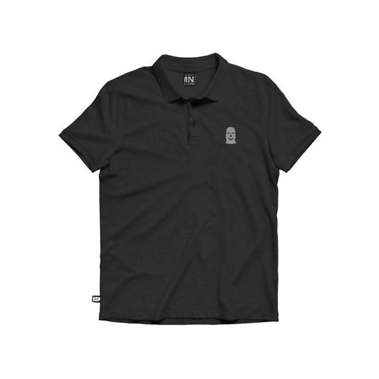Vandals on Holidays Grey on Black Polo