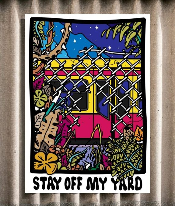 Stay off my yard Poster