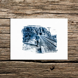 The walk Cyanotype